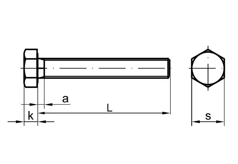 sechskantschraube din 933 8 8 m16 x 210 verzinkt schrauben expert hochwertig 7 52. Black Bedroom Furniture Sets. Home Design Ideas