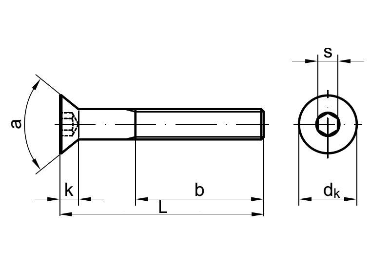 25 Stk Senkschraube DIN 7991 10.9 M5 x 40 galv verzinkt A2F getempert gal Zn