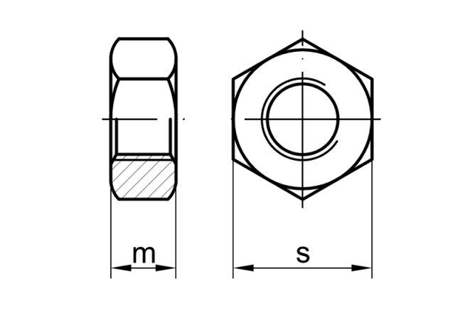 din 934 sechskantmutter messing ms schrauben expert hochwertige verbindungse 0 19. Black Bedroom Furniture Sets. Home Design Ideas